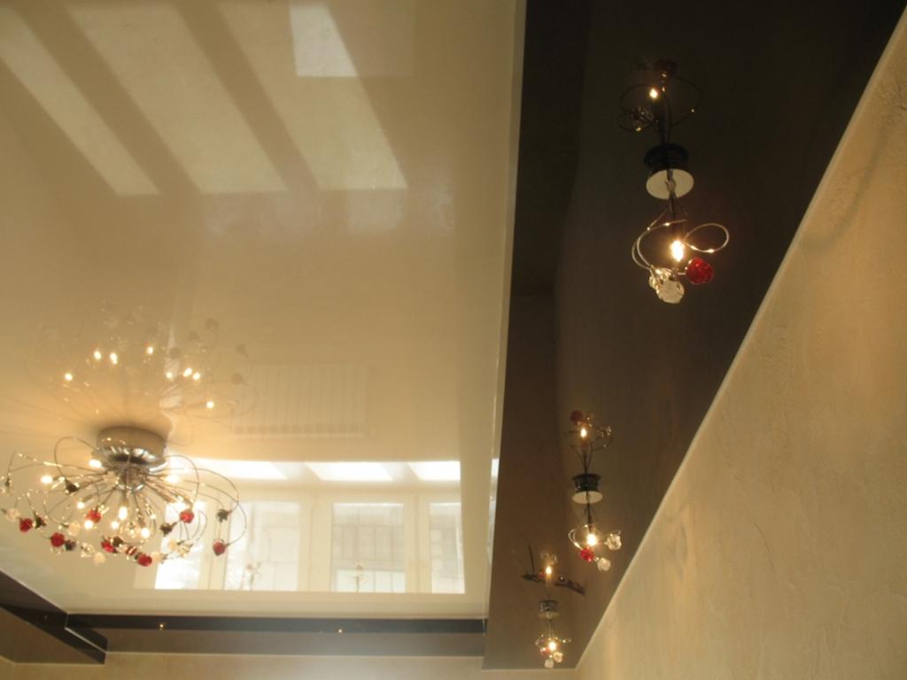Натяжной потолок два уровня своими руками